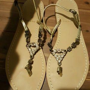 J. Crew jeweled sandals